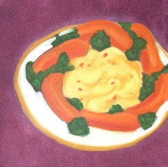 """""""Circle of Weiners,"""" oil on paper, 2012"""