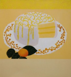 """Lemon Cake,"" oil on linen, 2013"