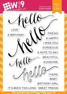 Hand Lettered Hello