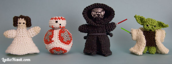 Free Crochet Star Wars Doll Patterns : Knit & Crochet Star Wars Dolls - Lydia Hawk Designs