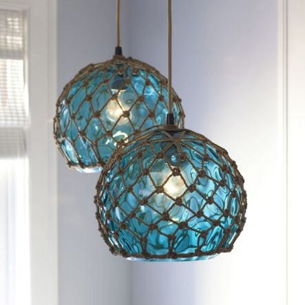 Hanging glass lights