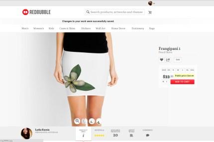 Frangipani skirt1
