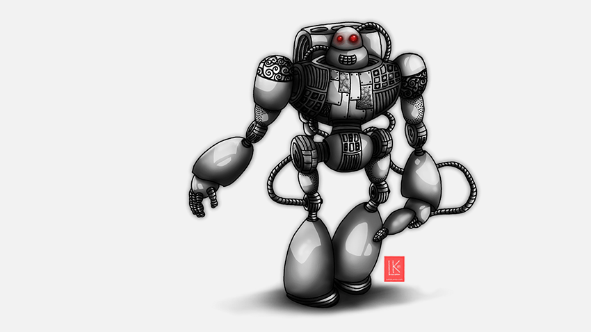 Lydia Kurnia digital artwork - Robot