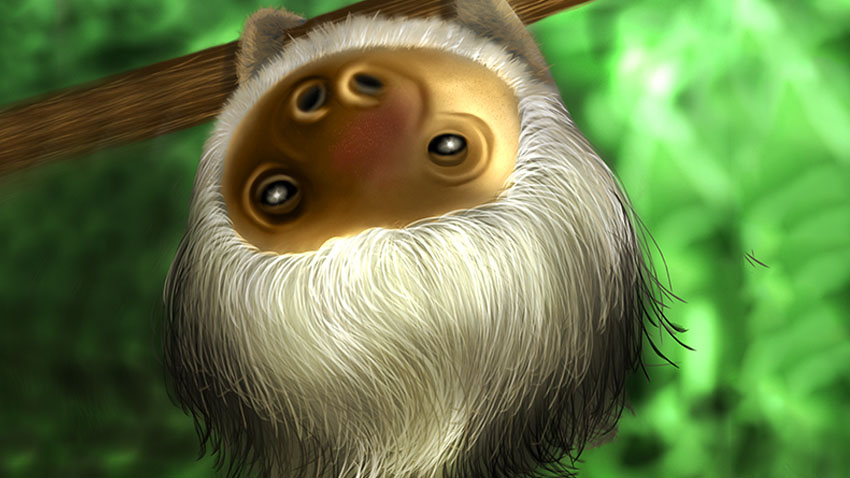 Lydia Kurnia digital artwork - Sloth