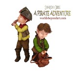 'Everyday' Day 81 – A Pirate Adventure illustration (Malakai and Jay)
