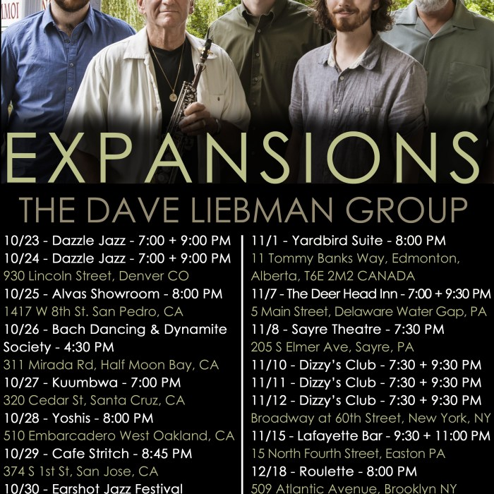Dave Liebman Expansions 10/23/14