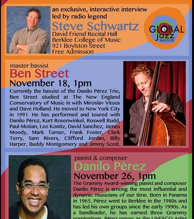 Masters Speak Series: Danilo Perez & Ben Street 11/18/13
