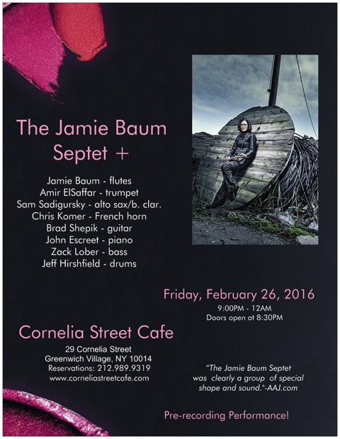 Jamie Baum Septet +, 2/26/16