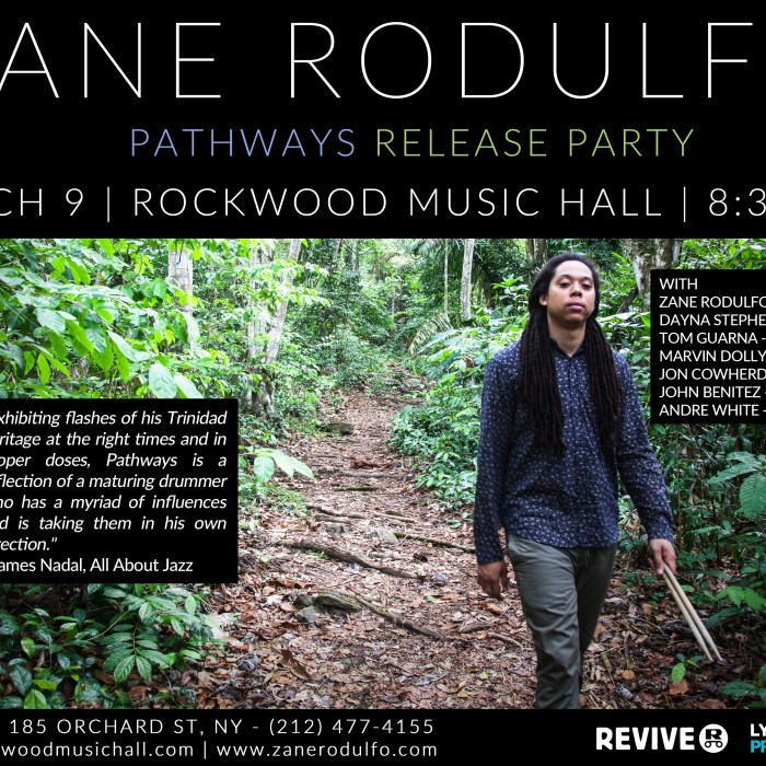 Zane Rodulfo, Rockwood Music Hall 3/9/16