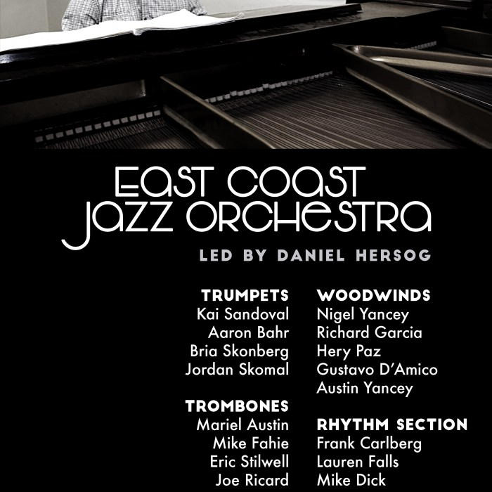 East Coast Jazz Orchestra, Zinc Bar, 5/5/16