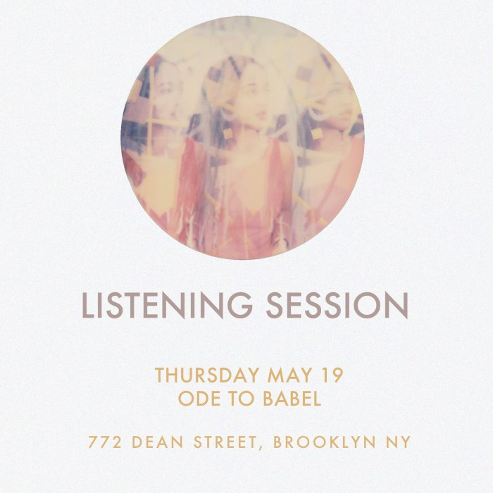 Jackie Gage 'Siren Songs' Listening Party, Ode to Babel, 5/19