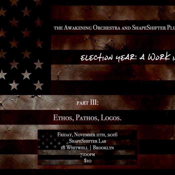 Awakening Orchestra, Shapeshifter Lab, 11/11/16