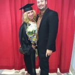 Lydia Liebman with Willy Rodriguez at Emerson College Graduation