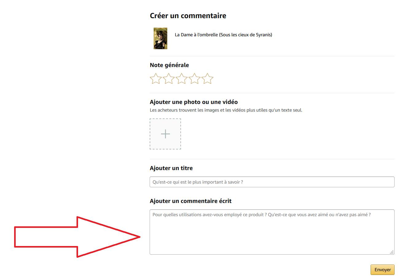 Rédiger un commentaire Amazon, pour aider le livre à devenir un best-seller !