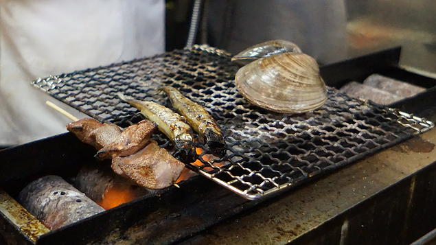 Barbequed Clam and Fish done right in front of you!