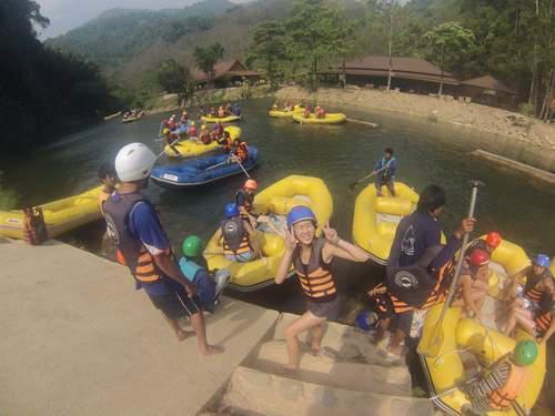 whitewater rafting in Krabi Thailand
