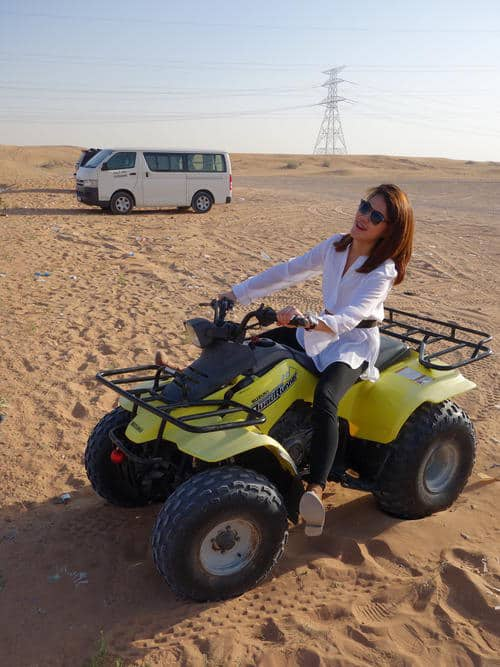 Quad Biking at the Dunes ( just posing, didn't actually get to do it)
