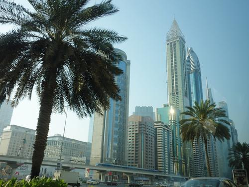Glistering skyscrapers line the Sheikh Zayed Road