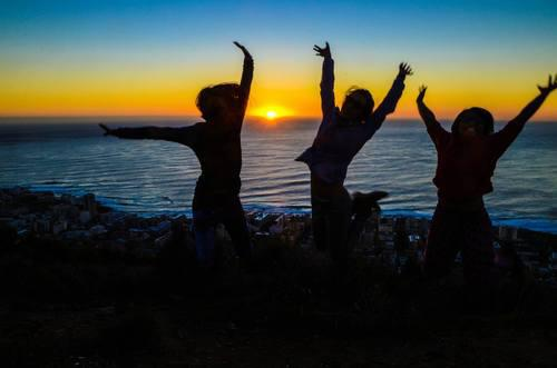 'Sheer Joy' Sunset Jump Shot ( Must coordinate with friends!) ( Photo Credits to F Z Joe)