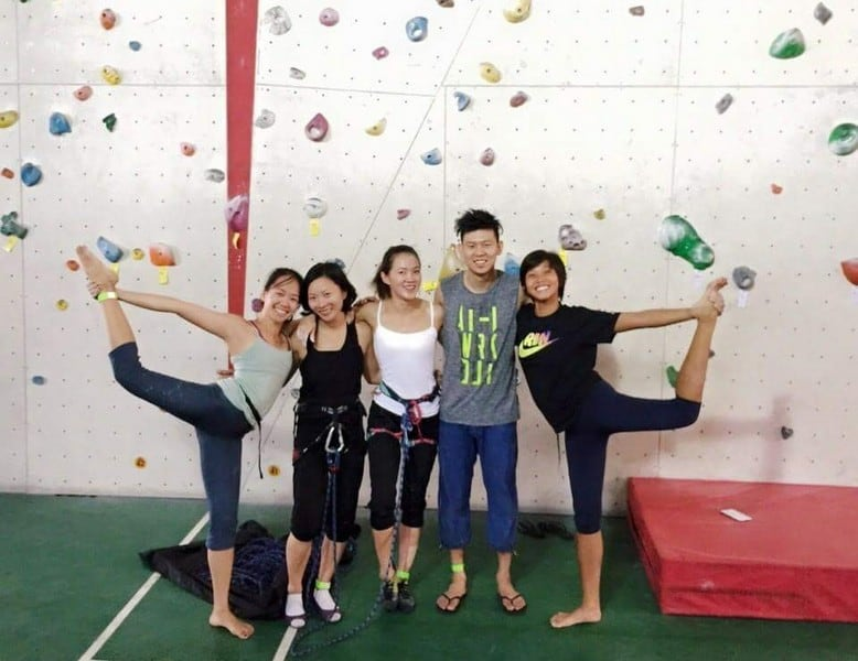 Rock Climbing at Onsight with friends