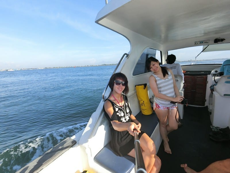 Bali Outdoor Adventure - Speeding along to our snorkeling site