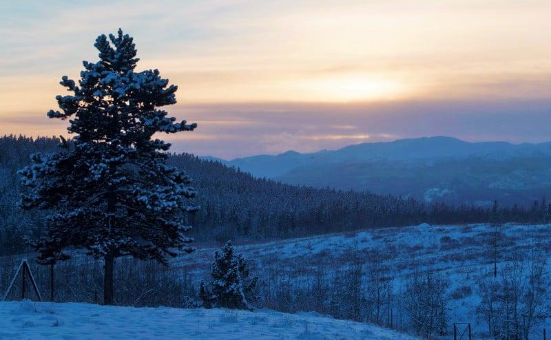 sunset in Whitehorse Yukon is truly stunning