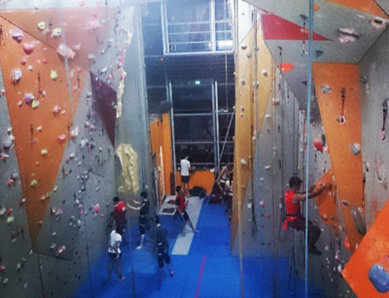best climbing gyms in singapore - Rock Climbing at Climber's Lab