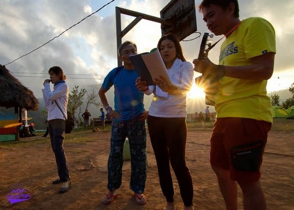 Sunset singing - let our voices ring and echo through the village and to all the world - trek for hope