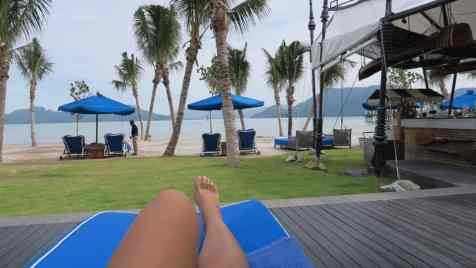 lazy afternoon with drinks and reading a book in langkawi