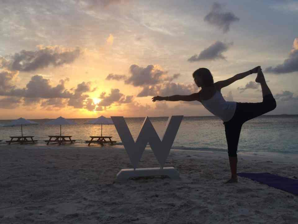 Sunrise Yoga at private island gaathafushi