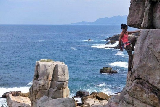 asia outdoor rock climbing destinations -Crazy stunning sea view as you attempt the different rock climbing routes in Longdong Jiufen