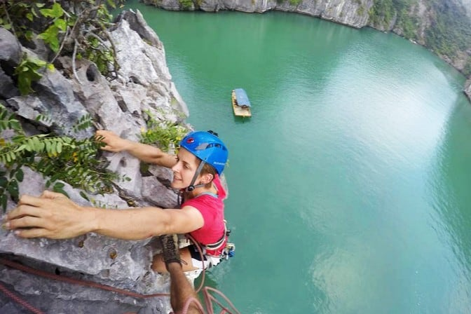Best Outdoor Rock Climbing Destinations can be found in Cat Ba Island Vietnam