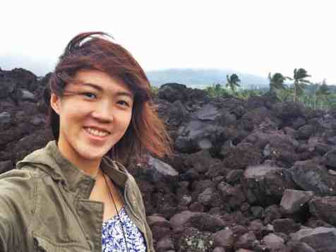 Surrounded by Volcanic Rock near Mount Mayon