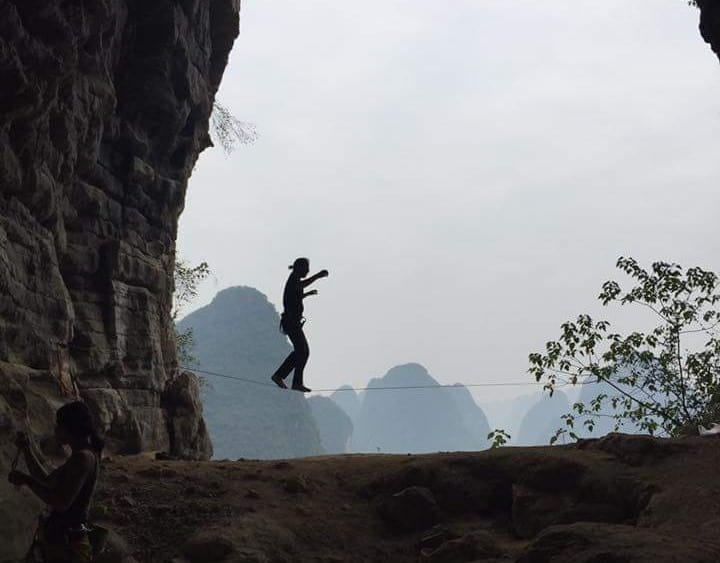 Slacklining in Yangshuo China