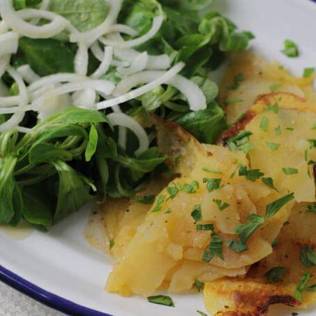 Potatoes Anna ~ Lydia's Flexitarian Kitchen