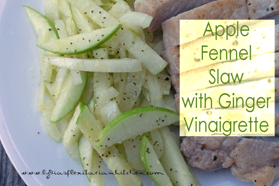 Apple Fennel Slaw with Ginger Vinaigrette