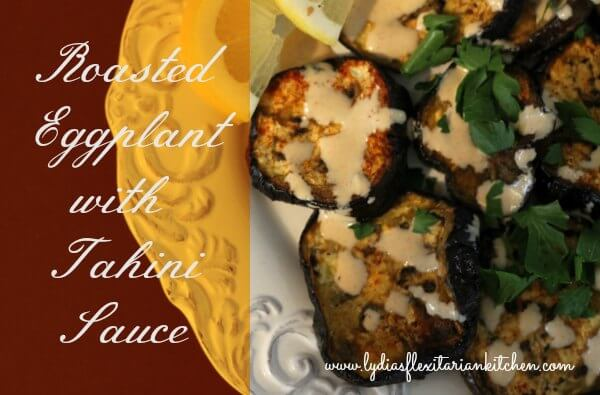 Roasted Eggplant with Tahini Appetizer