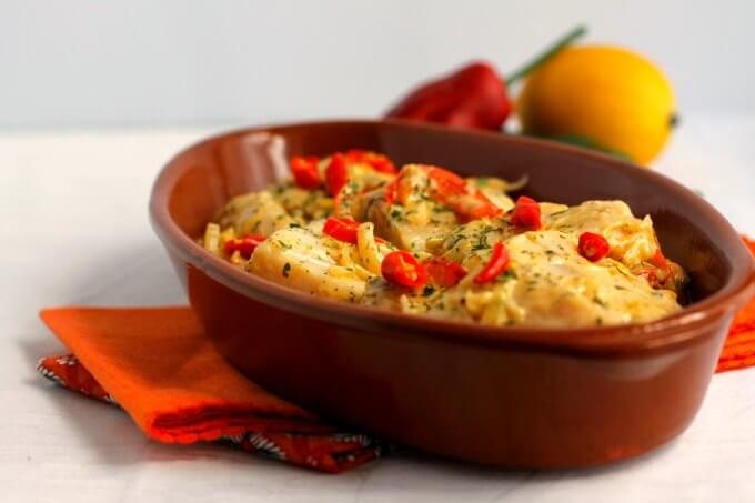 Fish With Ginger Cream Sauce