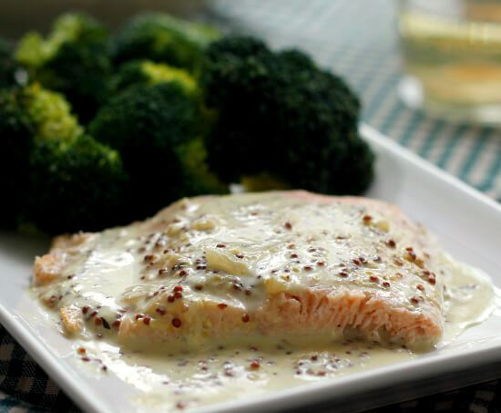 Salmon with Creamy Mustard Sauce