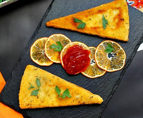 Fried Brie with Tomato Marmalade