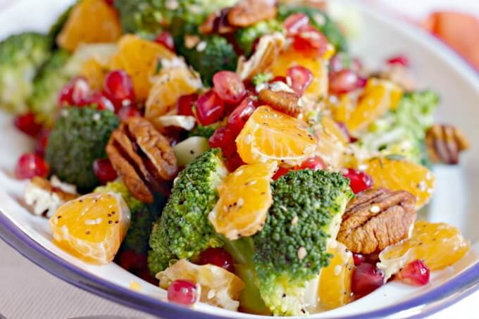 Oil Free Broccoli Citrus Salad