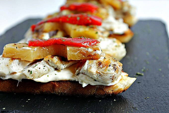 Garlicky Chicken and Pineapple Toasts