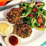 Spinach and Tofu Burgers ~ Lydia's Flexitarian Kitchen