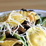 Lemony Ravioli and Asparagus ~ A Quick and Fresh Pantry Dinner ~ Lydia's Flexitarian Kitchen