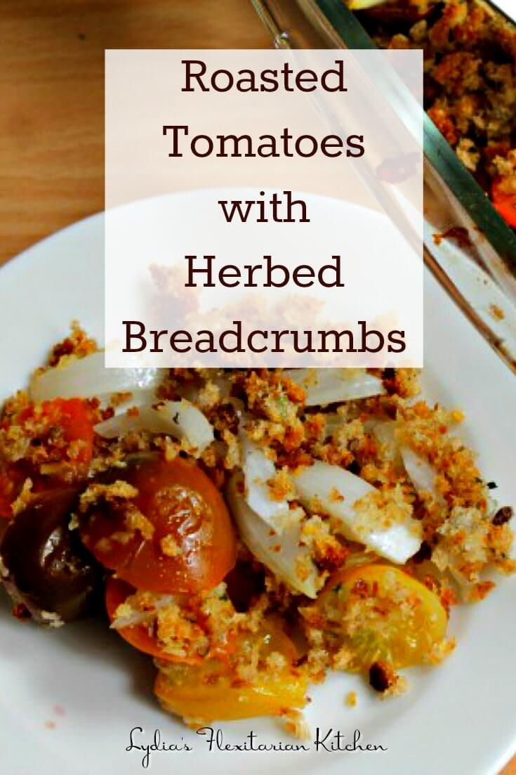 This could be the perfect #Summer sidedish...roasted #tomatoes and #onions w herbed breadcrumbs.