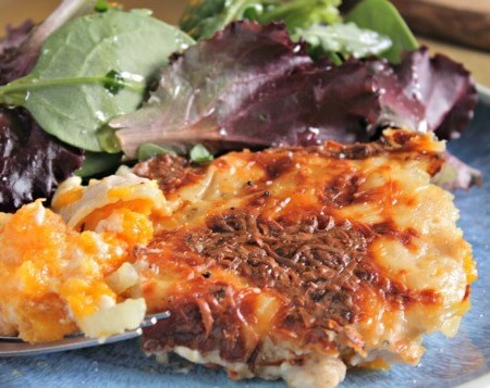 Squash & Fennel Lasagna ~ I Heart Cooking Clubs ~ Lydia's Flexitarian Kitchen