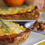 Butternut Squash Stuffed with Leeks & Hazelnuts ~ Lydia's Flexitarian Kitchen