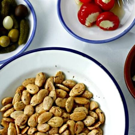 Thyme Roasted Almonds ~ I Heart Cooking Clubs ~ Lydia's Flexitarian Kitchen