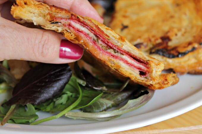 Salami and Cheese In Puff Pastry