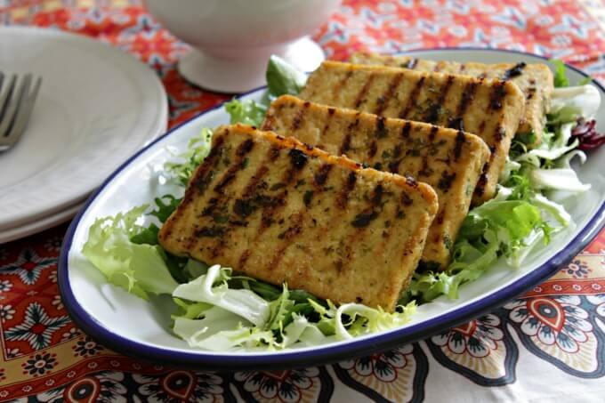 Lemon and Herb Tofu ~ Lydia's Flexitarian Kitchen